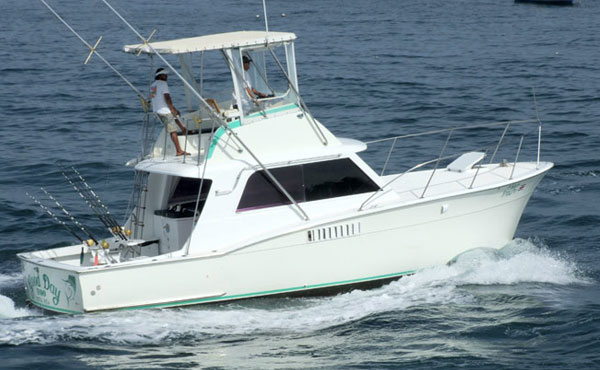 38 ft maverick fishing boat bachelor party bay costa rica for Party fishing boats
