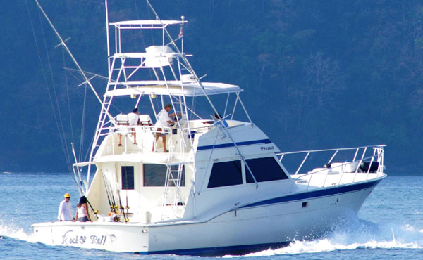 55 ft hatteras fishing boat bachelor party bay costa rica for Hatteras fishing charters