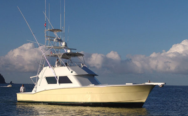 58 ft hatteras fishing boat bachelor party bay costa rica for Hatteras fishing boat
