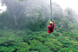 costa rica zip line canopy Costa Rica Bachelor Party Tour Guide